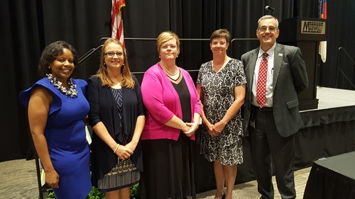 TOY, APOY, & POY recognized with Dr. Dunsmore and Dr. Smith Mason