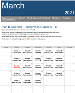 March 2021 - 6-8 Traditional - Plan B