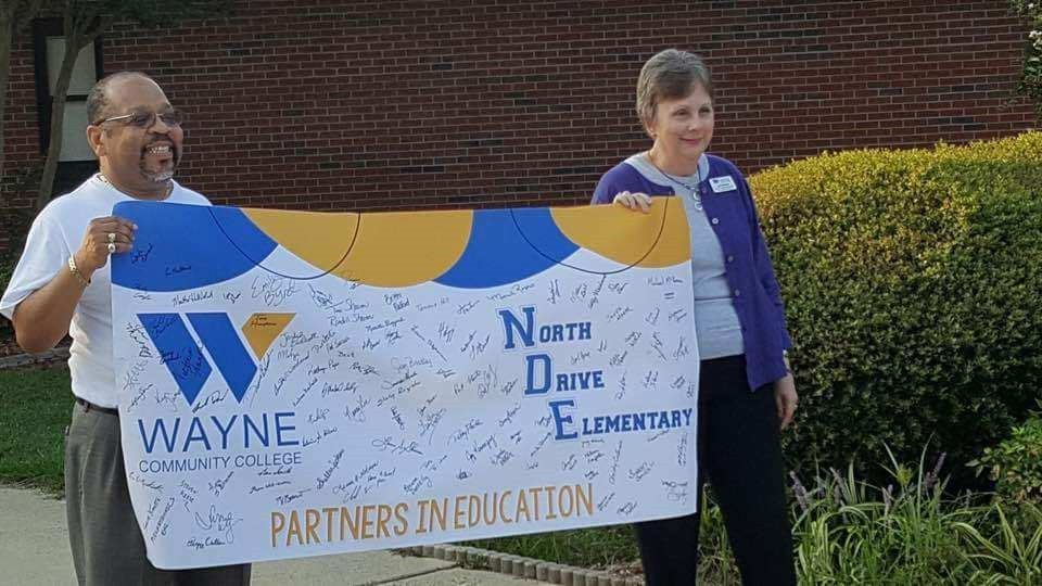 Wayne Community College welcomes students back to North Drive Elementary School.