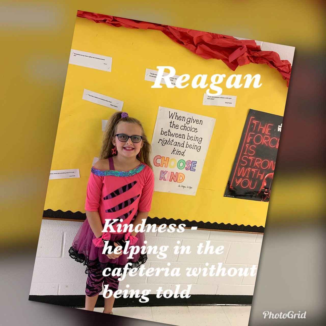 3rd grade student showing kindness!