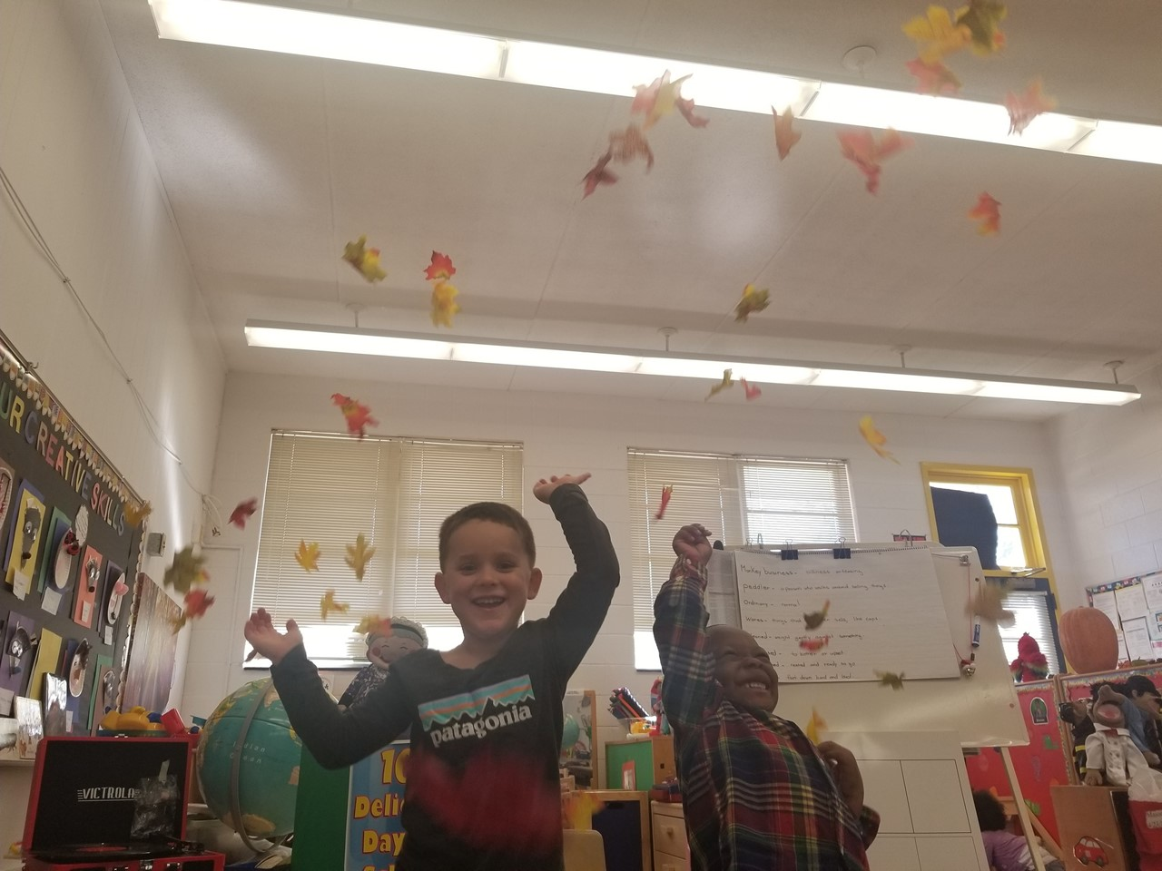 Learning about Fall, the leaves are falling!