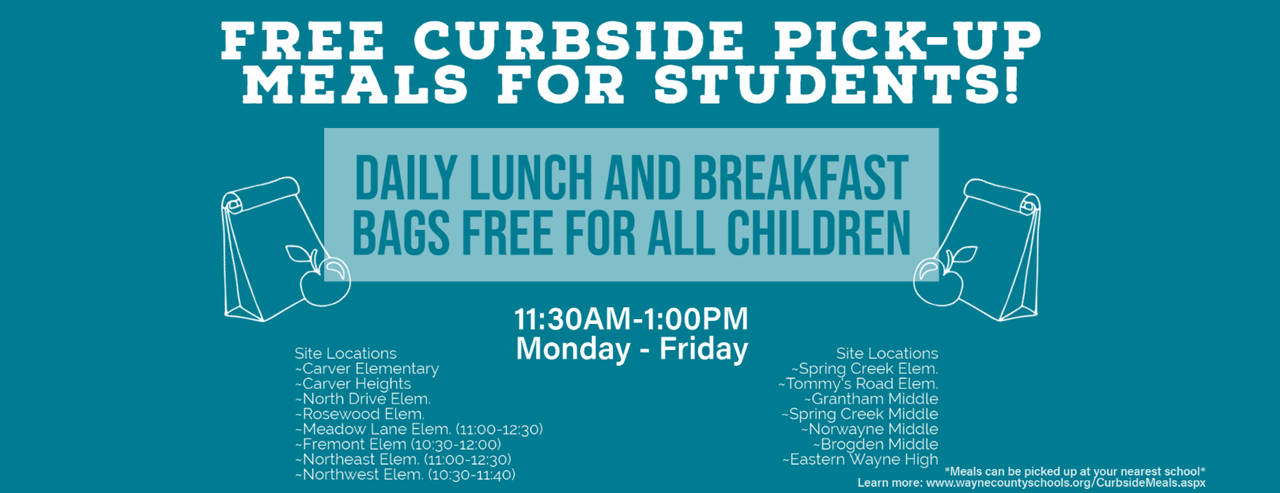 Curbside Meals Pick Up Banner