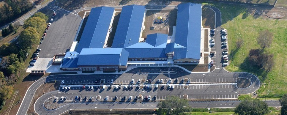 Aerial view of new Meadow Lane Elementary