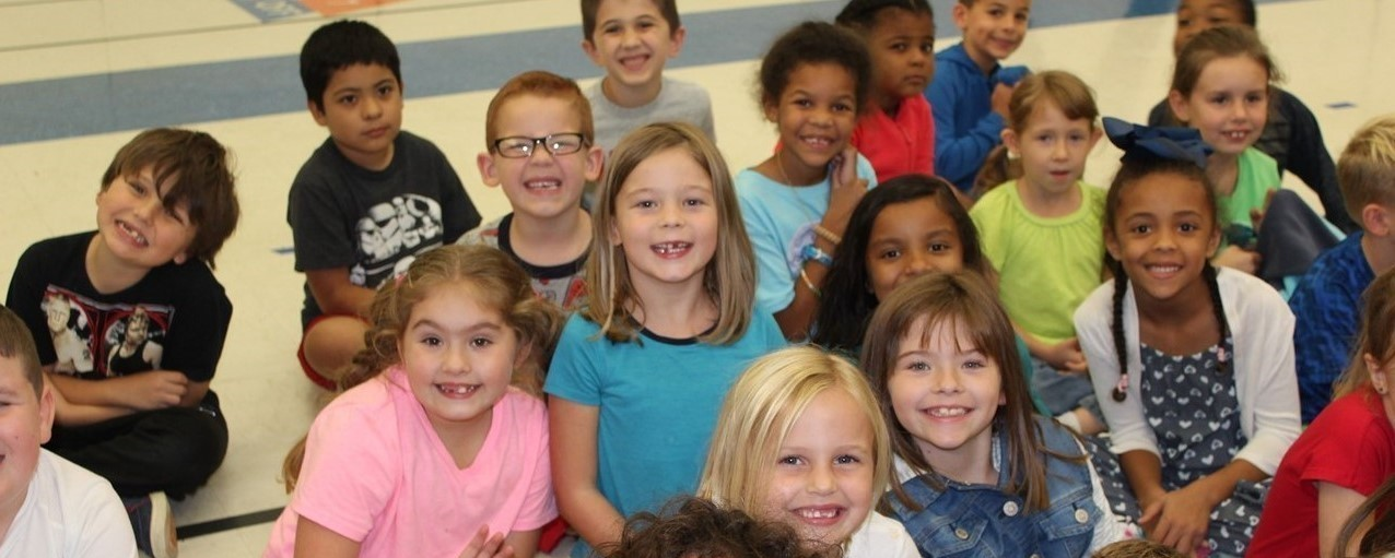 Northeast Elementary students smiling