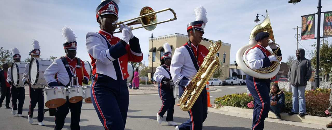 Band performing in parade