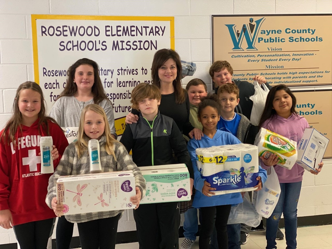RWE staff and students took up donations for a local agency to support our community!