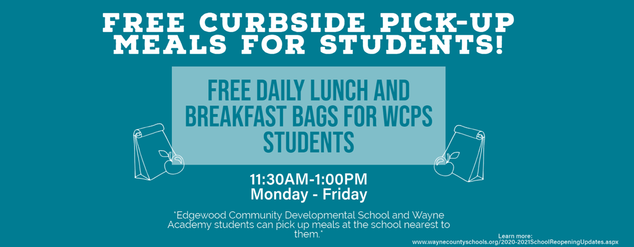 Curbside Meal Pick-Up Banner