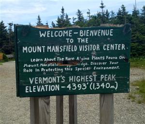 Mt. Mansfield Sign